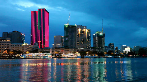 Ho Chi Minh City Skyline Stock Video Footage