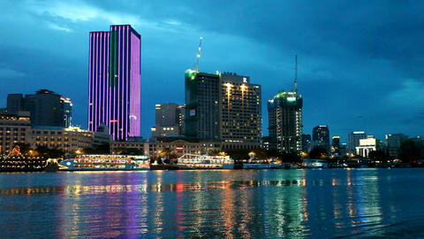 Ho Chi Minh City Skyline Stock Video Footage