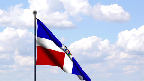Animated Flag of Dominican Republic Stock Video Footage