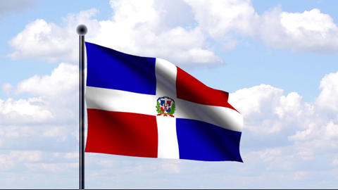 Animated Flag of Dominican Republic Animation