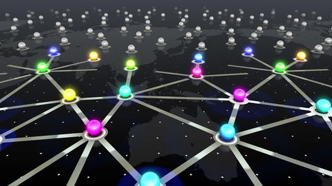 Social Network Connection F 4b 5 HD Stock Video Footage