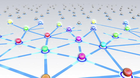 Social Network Connection F 4w 5 HD Stock Video Footage