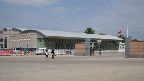 Chinese City of Heihe Passenger Customs 01 Stock Video Footage