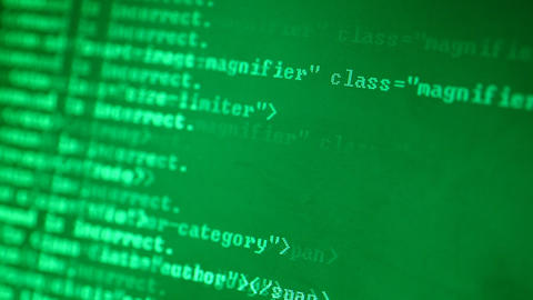 Html codes Stock Video Footage