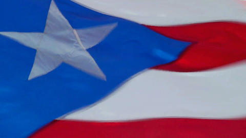 Puerto Rican Flag Footage