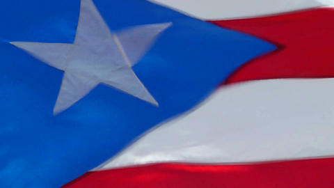 Puerto Rican Flag Stock Video Footage