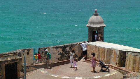 Tourist visit Morro Castle Stock Video Footage