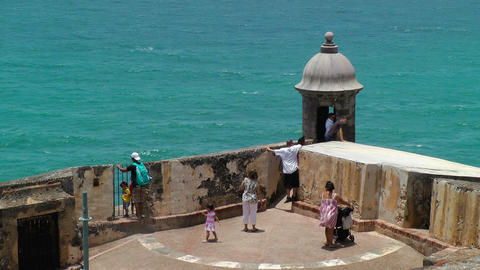 Tourist visit Morro Castle Stock Video Footage