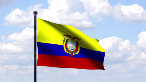 Animated Flag of Ecuador / Animierte Flagge von Ec Animation