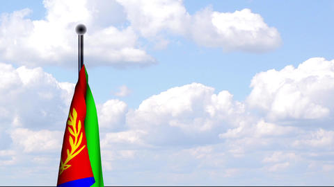 Animated Flag of Eritrea / Animierte Flagge von Er Stock Video Footage