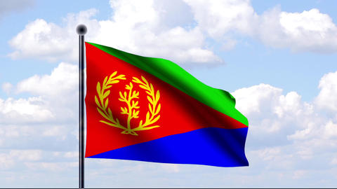 Animated Flag of Eritrea / Animierte Flagge von Er Animation
