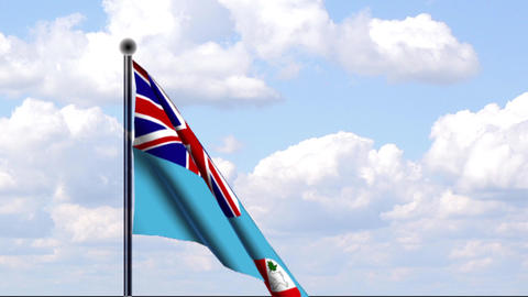 Animated Flag of Fiji / Animierte Flagge von Fidsc Stock Video Footage