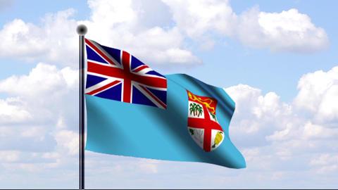 Animated Flag of Fiji / Animierte Flagge von Fidsc Stock Video Footage