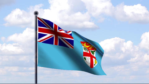 Animated Flag of Fiji / Animierte Flagge von Fidsc Animation