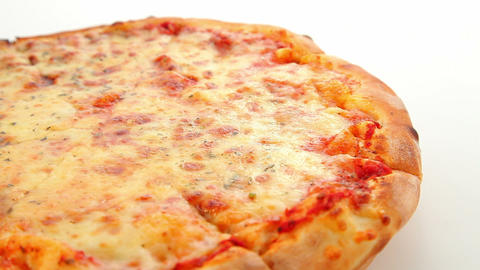 Pizza Margherita, dolly shot Stock Video Footage