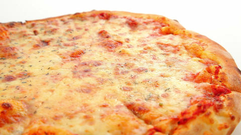 Pizza Margherita, dolly shot Footage