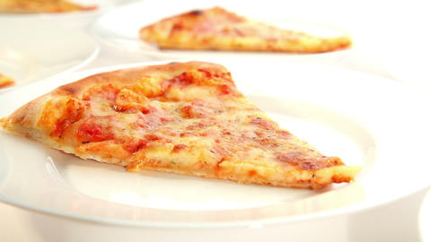 Delicious pizza Margherita, dolly shot Stock Video Footage