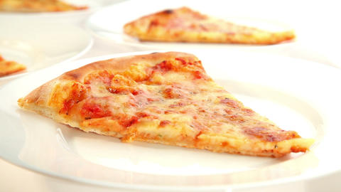 Delicious Pizza Margherita, Dolly Shot stock footage