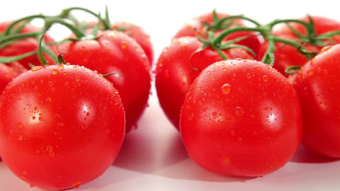 Fresh ripe red tomato - dolly shot of tomatoes Stock Video Footage