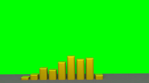 Chart - Animation - Gold Stock Video Footage