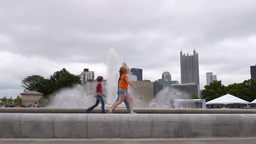Pittsburgh Fountain stock footage