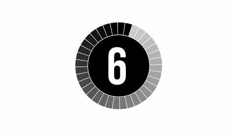 Loading Animation - 10-0 - Black Stock Video Footage