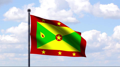 Animated Flag of Grenada Animation