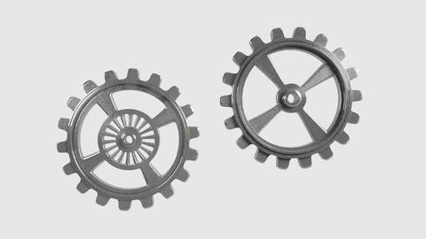 Cogwheels - Animation Stock Video Footage
