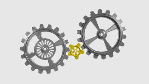 Cogwheels - Animation Stock Video Footage