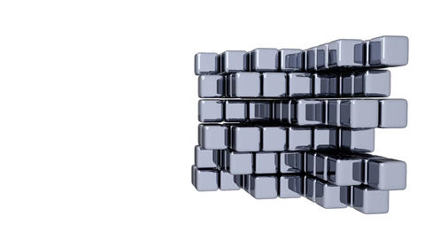 3D Cubes - Assembly - Animation Stock Video Footage