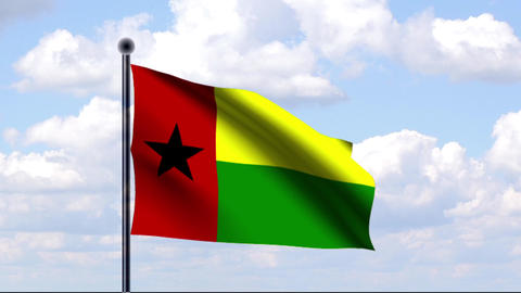 Animated Flag of Guinea-Bissau / Animierte Flagge  Animation