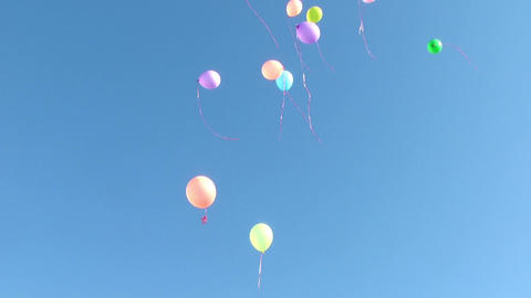 Flying Balloons Stock Video Footage