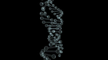 3D grid DNA string rotation Stock Video Footage