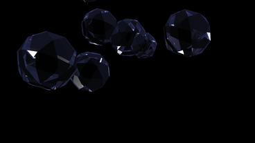 blue glass geometric Polyhedron in space Stock Video Footage