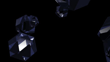 gem & diamond,glass geometric Polyhedron in space Stock Video Footage