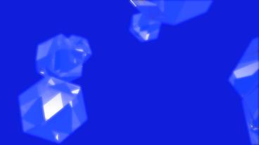 gem & diamond,glass geometric Polyhedron in space Stock Video Footage