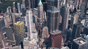 aerial view of New york,satellite navigation,Spectacular... Stock Video Footage