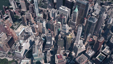 aerial view of New york & sunlight,satellite... Stock Video Footage