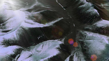 aerial view of snow mountain plateau,sunlight & solar... Stock Video Footage
