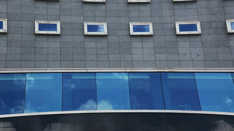 Clouds reflected in windows. Timelapse Stock Video Footage