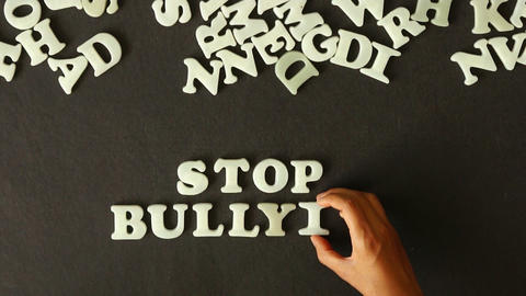Stop Bullying stock footage