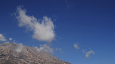 Blue sky pan to Kilimanjaro Footage