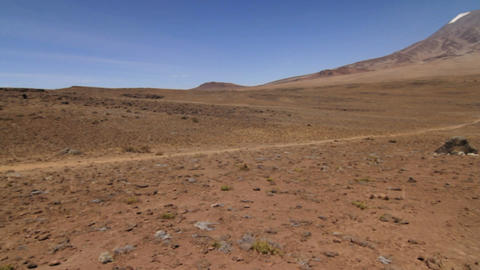 Pan to Kilimanjaro final approach Stock Video Footage