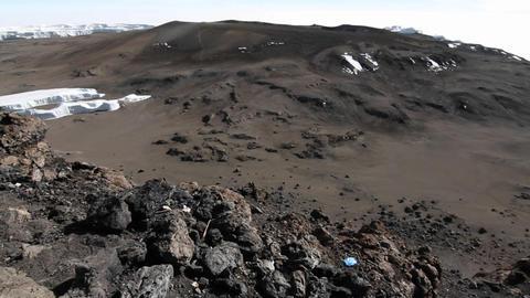 Summit of Kilimanjaro Stock Video Footage
