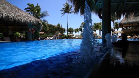 Fountain in resort pool Footage