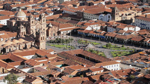 Cusco city center Stock Video Footage