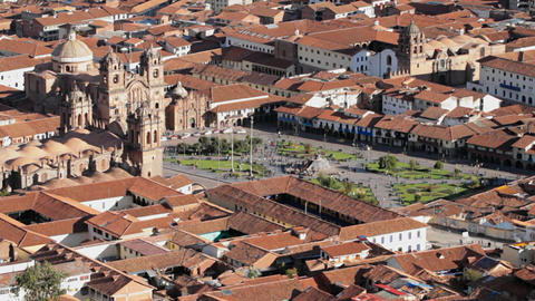 Cusco city center Footage