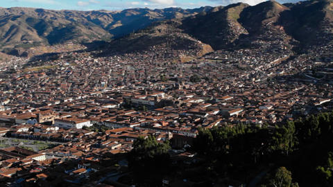 Cusco Panorama Stock Video Footage