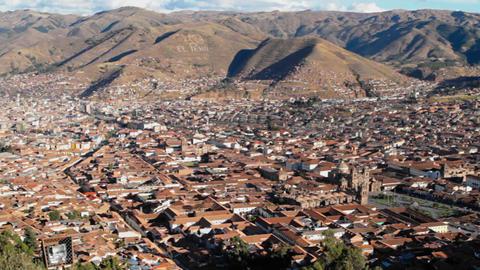 Cusco Panorama Stock Video Footage