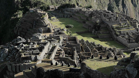 Wider view of Machu Picchu Complex Stock Video Footage